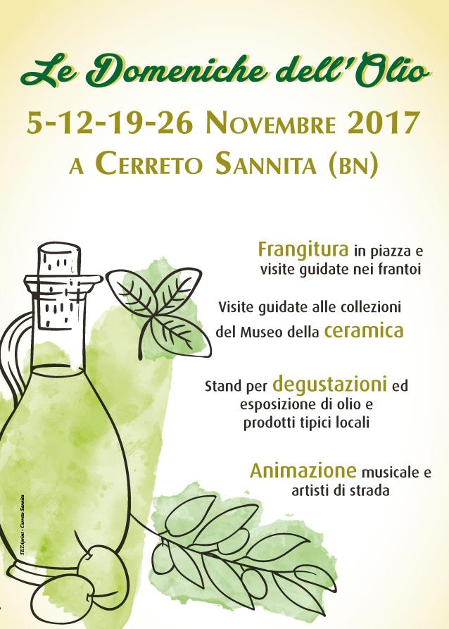Olio, Raciopella e farina, domani a Cerreto Sannita