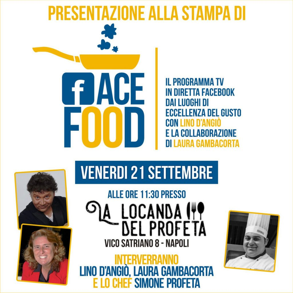 Nasce FaceFood, il nuovo format di Lino D'Angiò