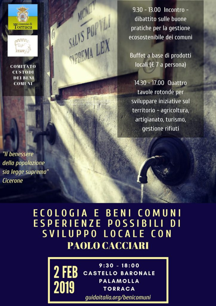 Torraca tra ecologia e beni comuni