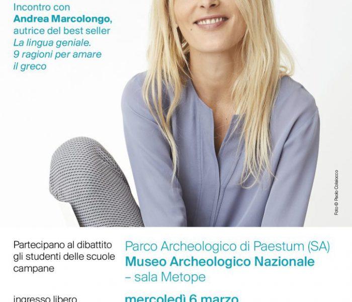 Argonauti e la scrittrice Andrea Marcolongo