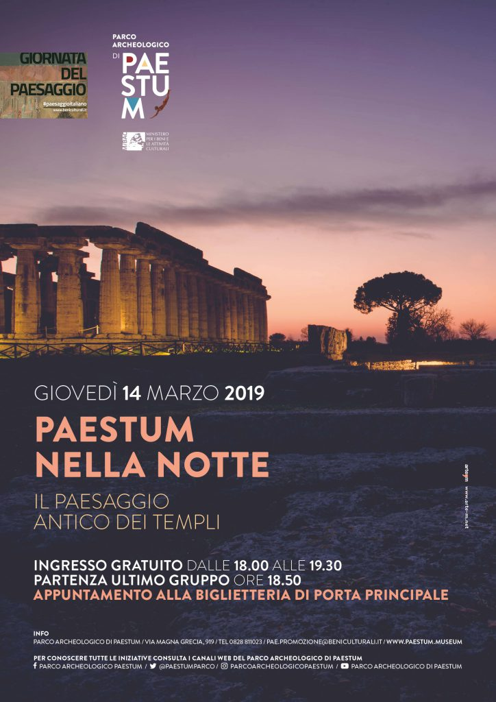 Paestum: Giornata del Paesaggio – 14 marzo 2019