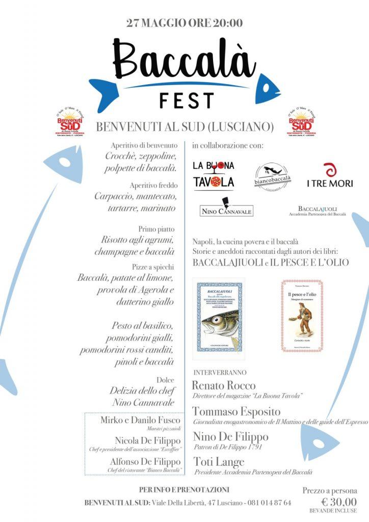 "Baccalà Fest a ""Benvenuti al Sud"""