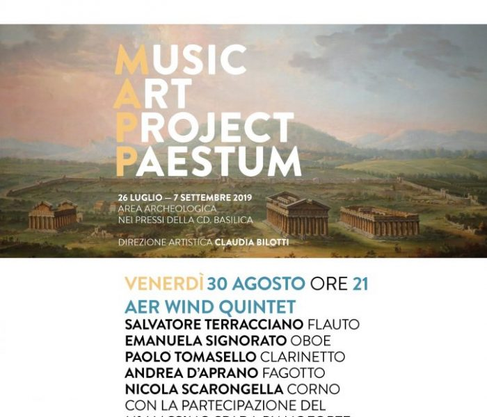 """Aer Wind Quintet"" al Parco Archeologico di Paestum"