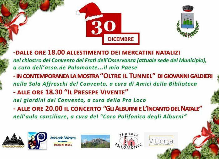 L'Agenda di Natale Palomontese 2017